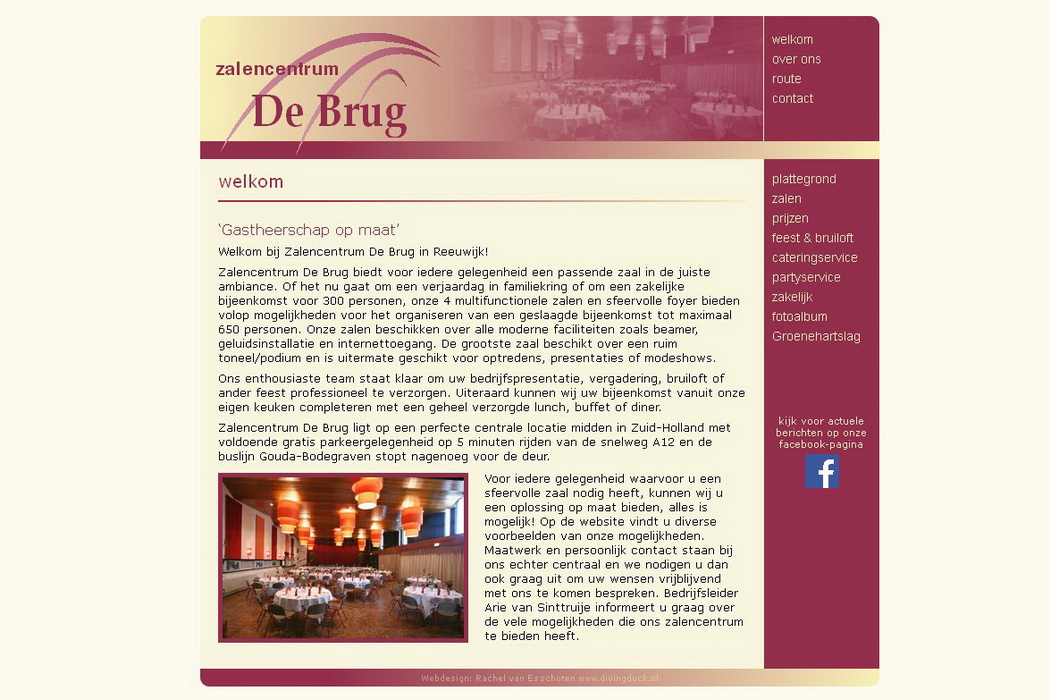 website Zalencentrum De Brug